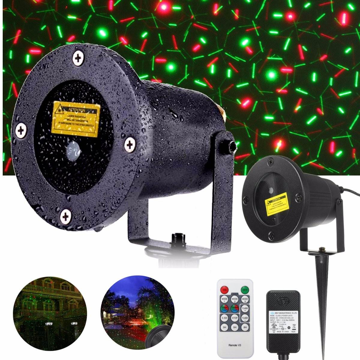 EU/US Plug 110-240V Waterproof Outdoor Landscape Garden Projector Decoration Moving Laser Christmas Stage Light free shipping us plug outdoor ip65 waterproof stage light christmas lights xmas light projector christmas uk us eu plug xx