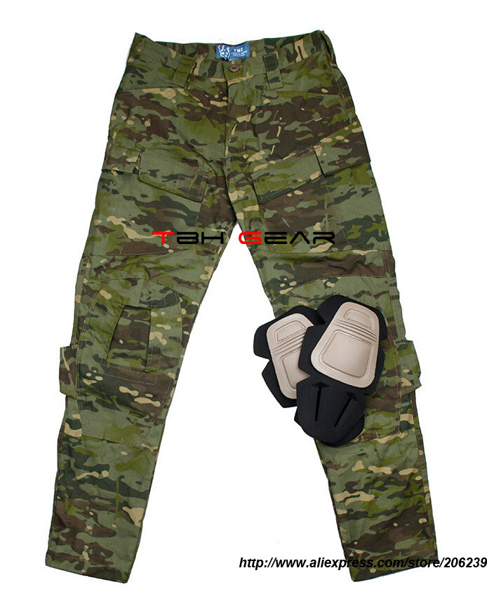 TMC E-ONE Multicam Tropic Combat Pants NYCO M65 Outdoor Airsoft Cargo Pants+Free shipping(SKU12050161) pants f e v by francesca e versace pants