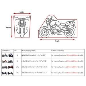 Image 3 - X AUTOHAUX אוניברסלי 180T גשם אבק חורף אופנוע כיסוי חיצוני עמיד למים UV כל מנוע כיסוי עם להדק רצועת עיצוב