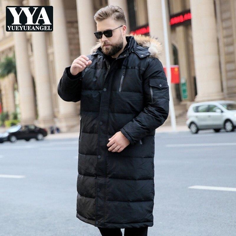 Grande taille 7XL 8XL 9XL 10XL duvet de canard hommes manteau hiver à capuche col de fourrure veste bouffante hommes chapeau Streetwear doudoune homme