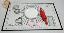 600x400x0,4mm oder 23,62*15,74 zoll feine faser mesh silikon Pizza Maker fondant Ofen Backen Liner Blätterteig mit Messungen