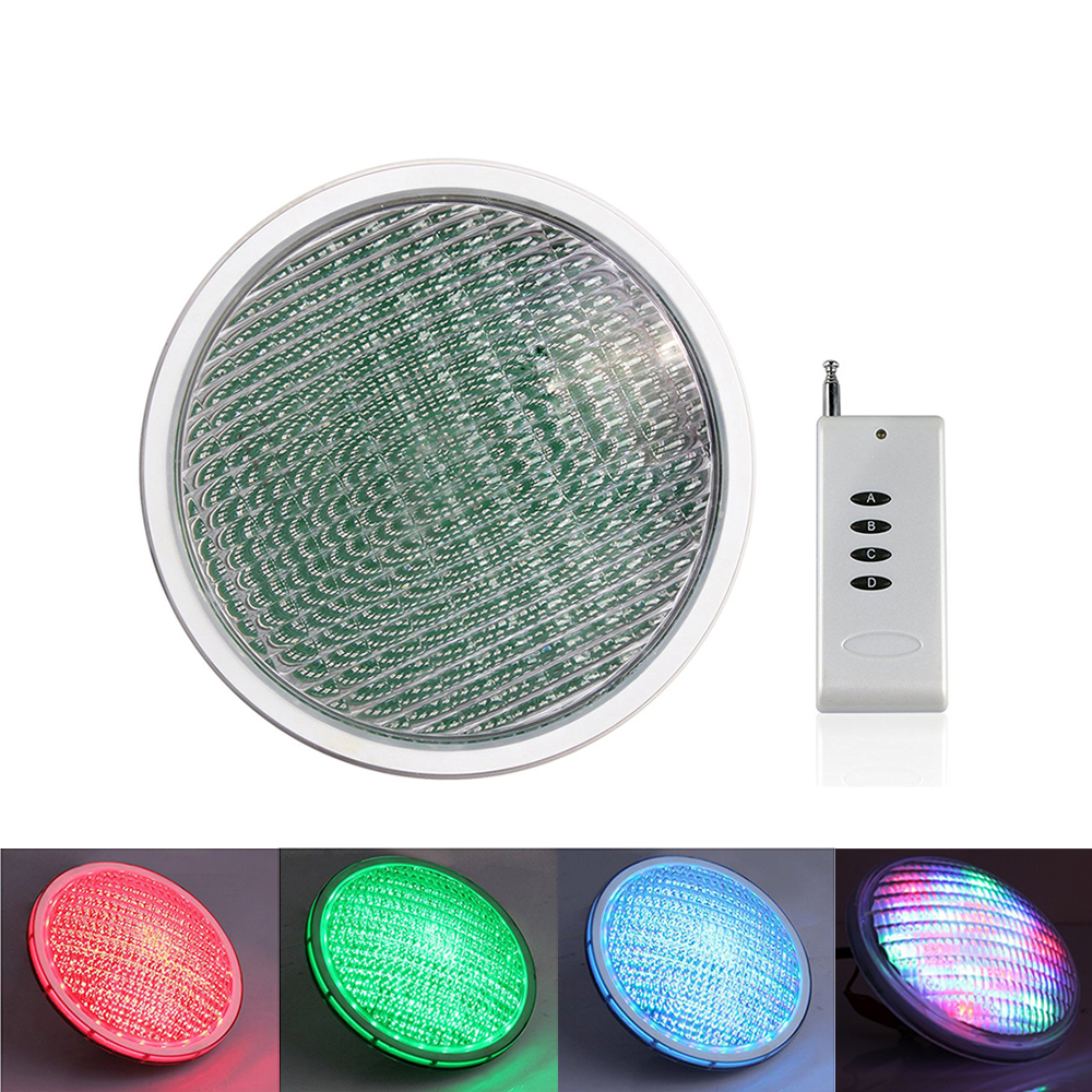 RAYWAY Par56 LED Swimming Pond Underwater Lighting bulb 54W AC /DC12VRGB swimming pool lamp Piscine plastic Lamp цены
