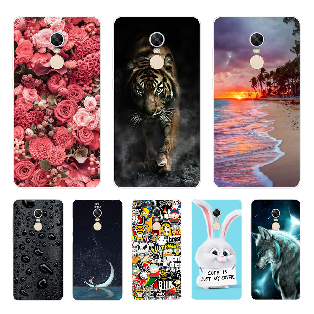 Phone Case For Xiaomi Redmi Note 4 Cover Case Soft Silicone Case For Xiaomi Redmi Note 4X Case Cover For Redmi Note 4 X Coque 3D