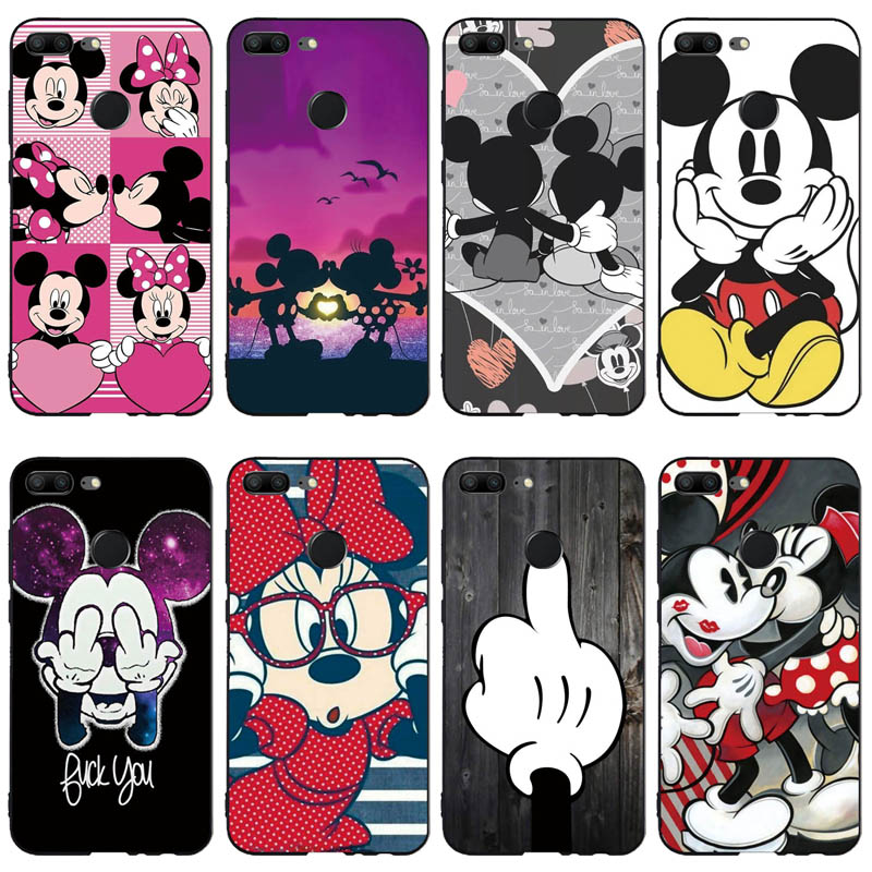 Silicone Phone Case For Huawei Honor 9 Honor 9 Lite Cases Soft TPU Phone Back Cover Full 360 Protective Shell New Design Fundas