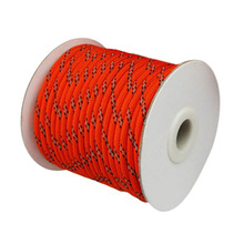Лидер продаж, 20 Вт, 30 Вт, 50 м светоотражающего тента веревка парень рулон брезентовой ткани тент Паракорд Guyline Кемпинг шнур/кнопка вызова помощи MCK99
