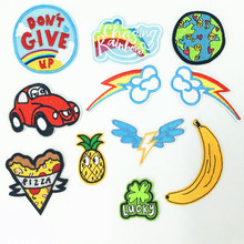 Cartoon Fruit Earth Repair Hole Badge Patch Embroidered Patches For Clothing Iron On Close Shoes Bags Badges Embroidery DIY