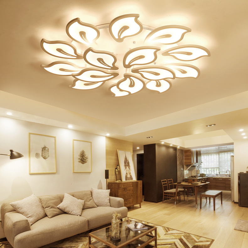 Modern LED ceiling lamps living room ceiling lights Novelty Acrylic illumination bedroom fixtures kitchen ceiling lighting купить недорого в Москве