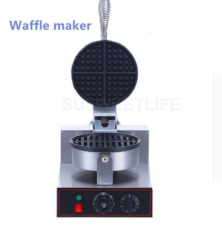 Máquina de waffles comercial horno eléctrico panqueque desayuno Scone Snack