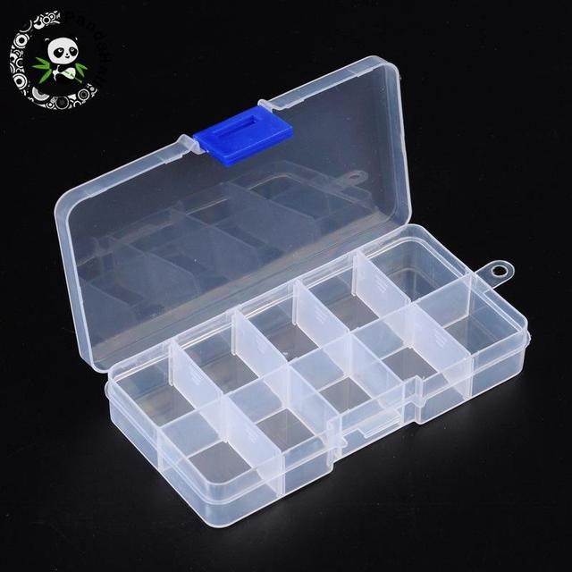 10 Compartment Organiser Storage Plastic Box for Loom Bands Craft