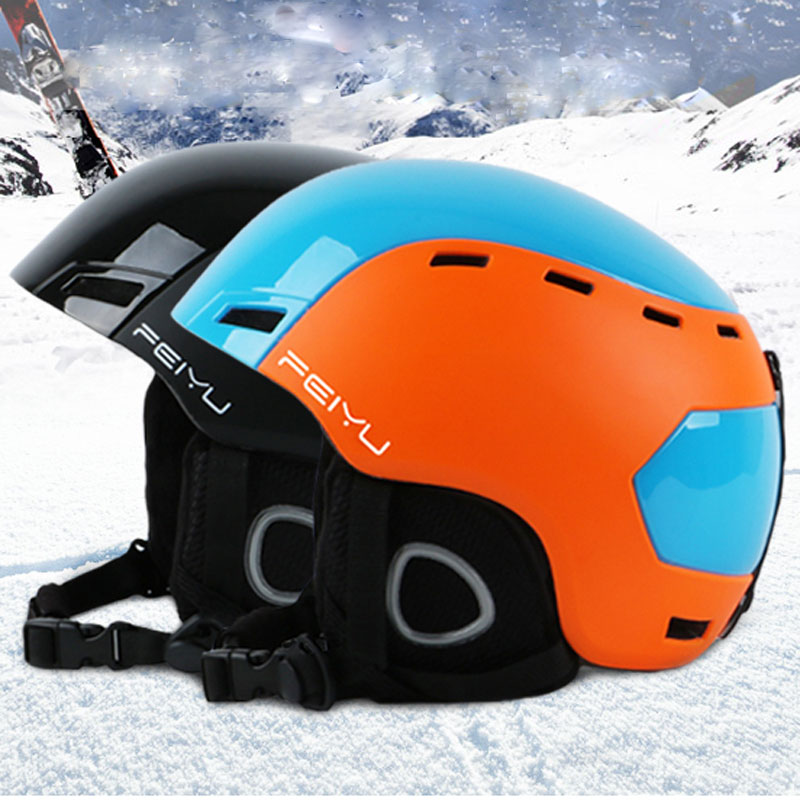Professional Portable Ski Helmet Integrally-molded Snowboard sports helmet for Men Women Skating Skateboarding Skiing Helmet giro bevel snowboard helmet matte titanium mens
