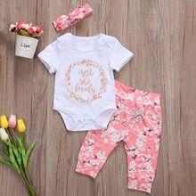Conjunto calças de verão para bebês meninas, recém nascidos, body, roupas de macacão, conjunto de roupas