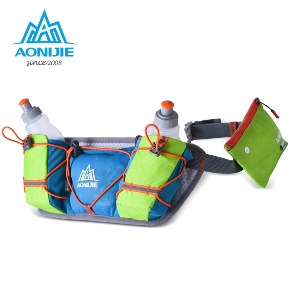 AONIJIE Men Women Waist Packs Running Hydration Belts Bottle Holder Belt Reflective