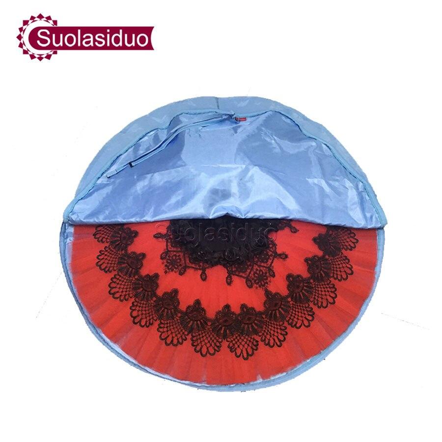 Skye Blue Professional Ballet Tutu Bag Rose Red Waterproof Canvas Flexible And Foldable Soft Ballet Dance Bags Ballet Tutu Case