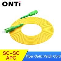 SC/APC Fiber Optic Patch Cord Cable SC SC 1/3/5/10/20/30M Jumper Single Mode Simplex 3mm Optical Fibra Optica FTTH 10PCS