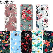 ciciber Plant Flower Floral Phone Case for Samsung Galaxy Note 9 8 3 4 5 Soft TPU Cover C7 C9 C8 C5 Pro 2017 Coque