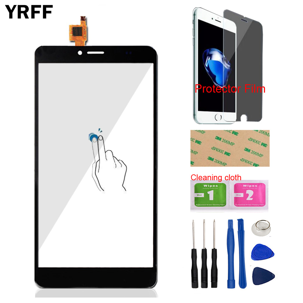 6.0'' Mobile Phone Touch Panel Front Glass For Bluboo Maya Max Touch Screen Digitizer Panel Glass Sensor Protector Film Adhesive