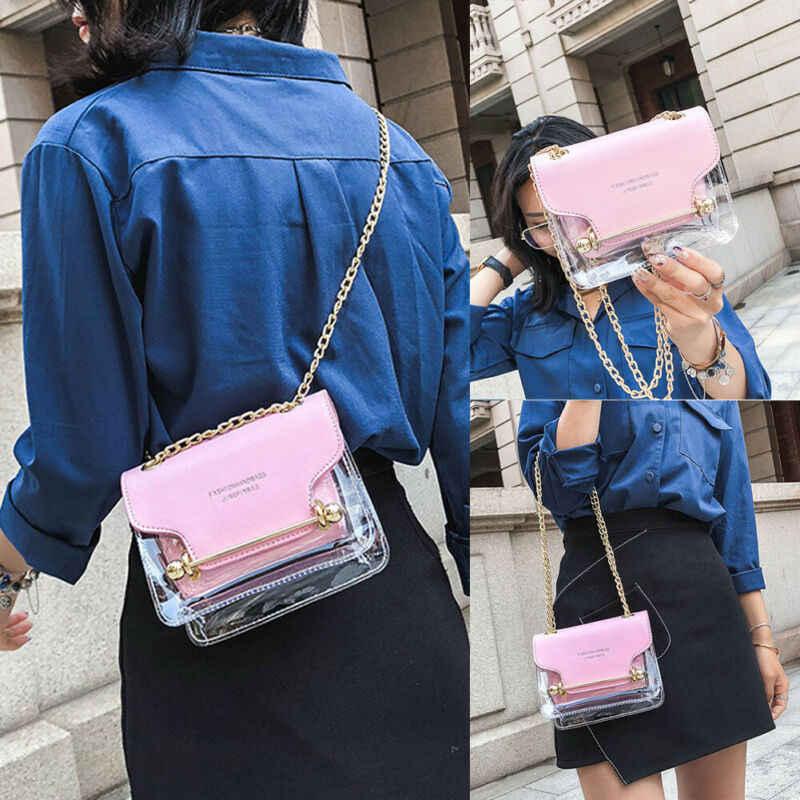 Przezroczyste torby na ramię pcv kobiety cukierki kolor torebki i torebki jednolity kolor luksusowe torebki damskie torebki projektant Sac