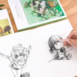 Image 5 - 1pcs  Thicken Sketch Blank Paper Sketchbook Picture Book Hand painted Special Art Painting Paper Graffiti Watercolor Painting