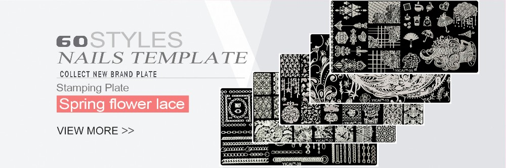 2018 Nail Stamping Plates yicai,spv,dieshan Stamping Lacquer Plates DIY Nail Art Manicure Templates Stencils Polish Tools 1PC