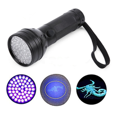 51 UV LED Scorpion Detector Hunter Finder Ultra Violet Blacklight Flashlight Torch Light Lamp AA 395nm 5W Free Shipping