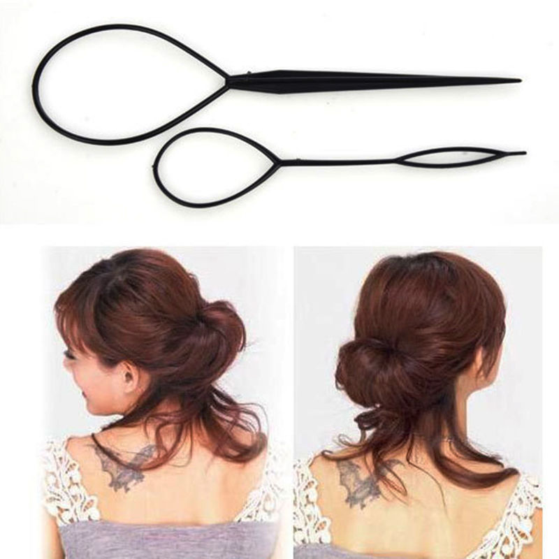 2pcs Magic Topsy Tail Braid Hair Maker Ponytail Styling Tools Hair Accessories/Curler Hair Clip Tool