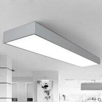 LED תקרת משרד מנורת מסדרון מעבר מרפסת מודרנית מינימליסטי מלבני ארוכה תקרת מנורות תאורת LED למשרד קבועה led|אורות תלויים|פנסים ותאורה -