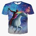 Princes Deadpool Unicorn Riding 3D Print T-shirt Cotton Unisex Tee Shirts Short Sleeve Casual Homme Loose Summer Marvel Tops