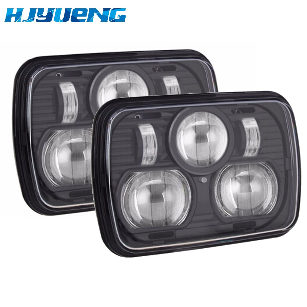 led 7inchfor Jeep Cherokee XJ Trucks Auto square led headlamp 5x7 Inch led truck headlight 6x7 car-styling square led headlight