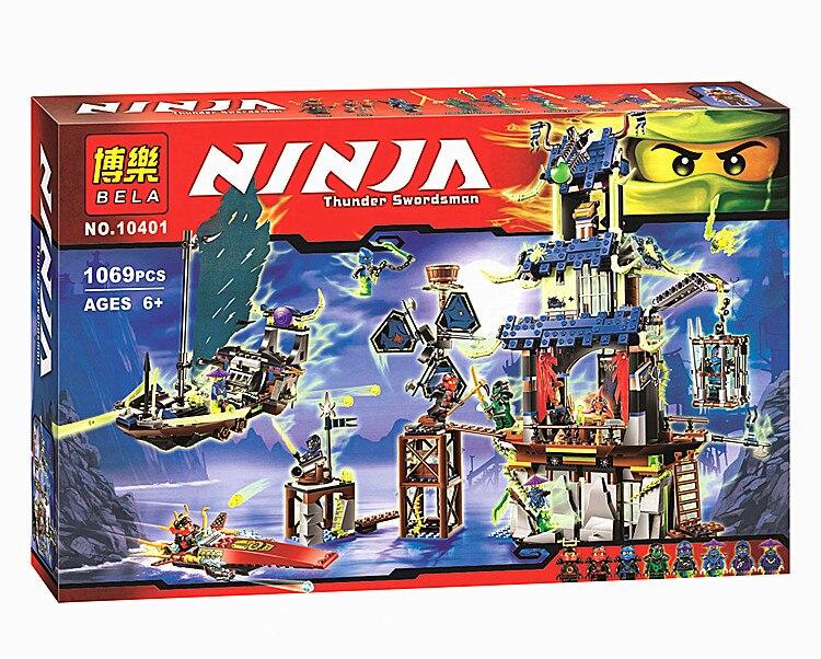 ФОТО Bela 10401 Ninja Ciudad de Stiix Maestros Spinjitzu Building Blocks  Ladrillos Ninos Juguetes Compatible