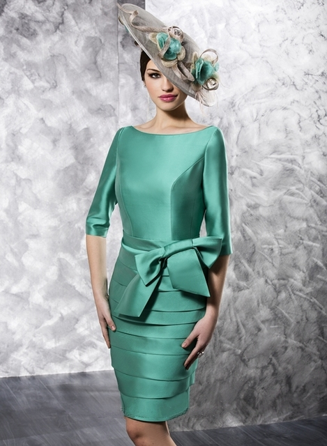 Fashion green short v back mother of the bride dresses with ...