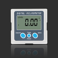 Electronic Goniometer 360 Degree Level Box LCD Digital Protractor Zinc Alloy Shell Mini Inclinometer Angle Finder With Magnet