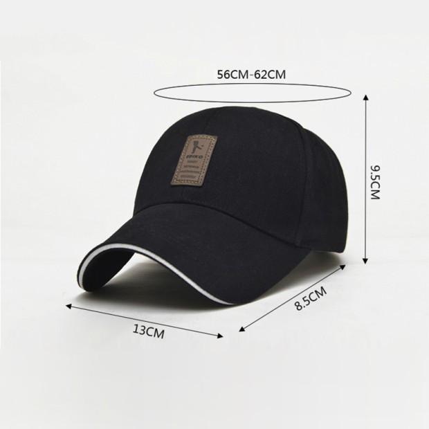 fbe144fc137e 1 pieza gorra de béisbol de los hombres casquillo ajustable casuales  sombreros de ocio color sólido moda snapback verano otoño sombrero gorras  de alta ...