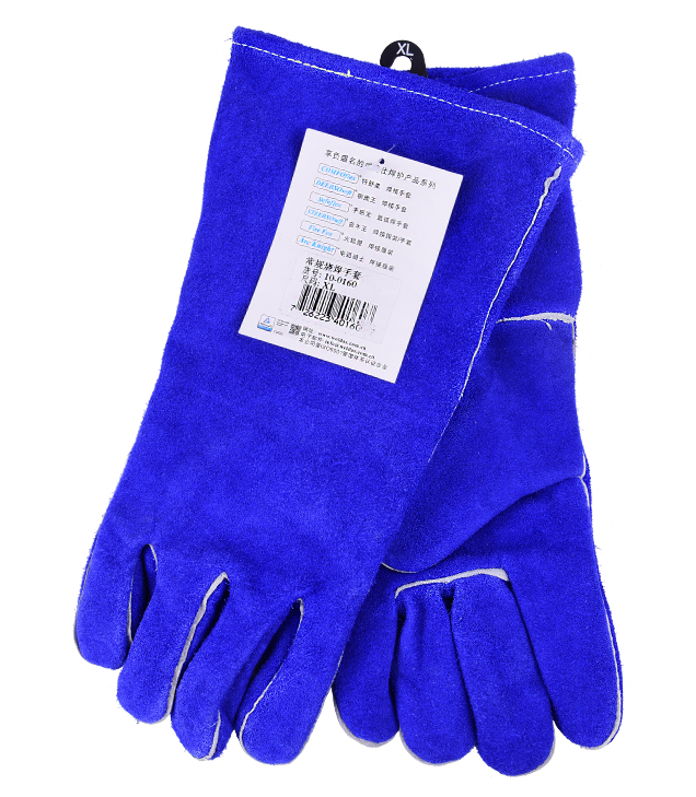 TIG MIG Welder Safety glove leather work glove strengthen protective cow split leather welding glove все цены
