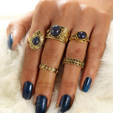 Geometric carved Midi Rings Set Vintage Elephant Feather Infinity Peace Sign Arrow Wave Bohemian Knuckle Rings Jewelry(China)