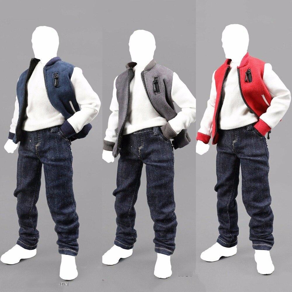 1/6 échelle homme homme chandail à capuche 1/6 échelle Baseball vêtements marée-ZONE Baseball costume Action Figure modèle jouet