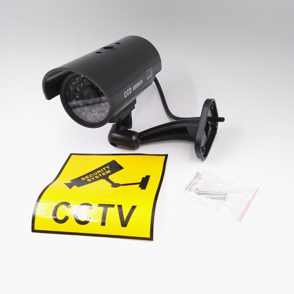 все цены на Simulation camera False monitor false camera Waterproof Dummy Camera Bullet Flashing Red LED CCTV Accessories Fake Camera