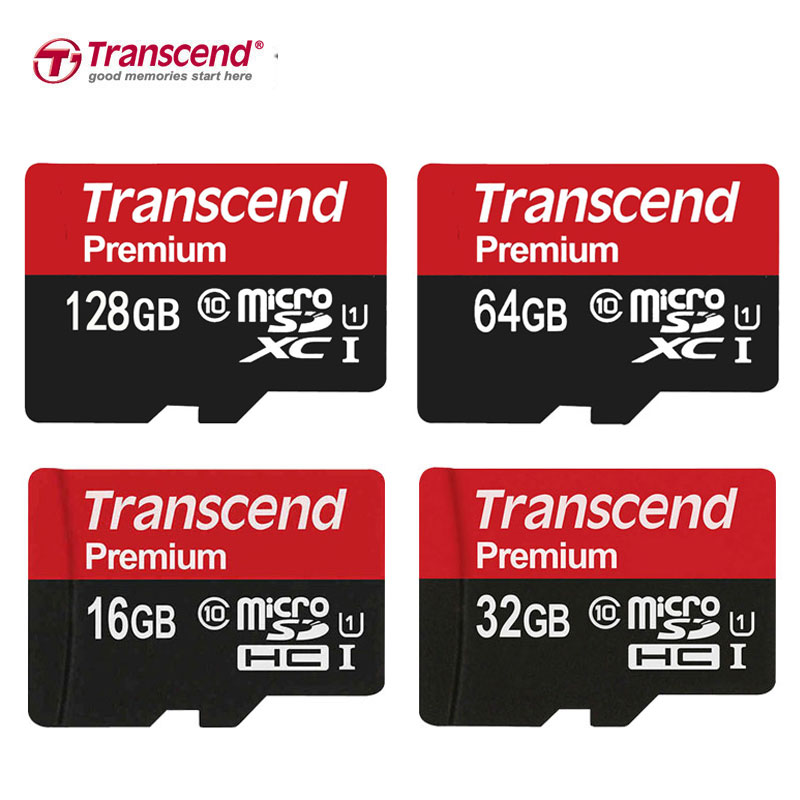 Image 1 - Karty pamięci Transcend 32 GB Class10 MicroSD 64 GB 128 GB Micro SD karty SDXC do 90 MB/S UHS 1 karty TF 16 GBtranscend sdhc card 16gbsdhc card 32gbsdhc camera card -