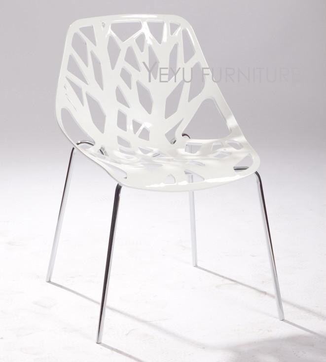Sedie Acciaio E Plastica.Moderno E Minimalista Design In Plastica E Metallo Sedia Da Pranzo
