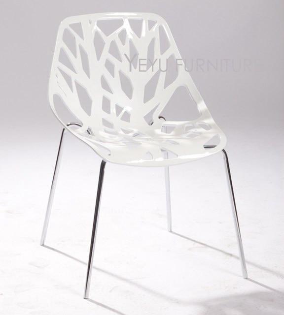 Moderno e minimalista Design In Plastica e Metallo Sedia Da Pranzo ...