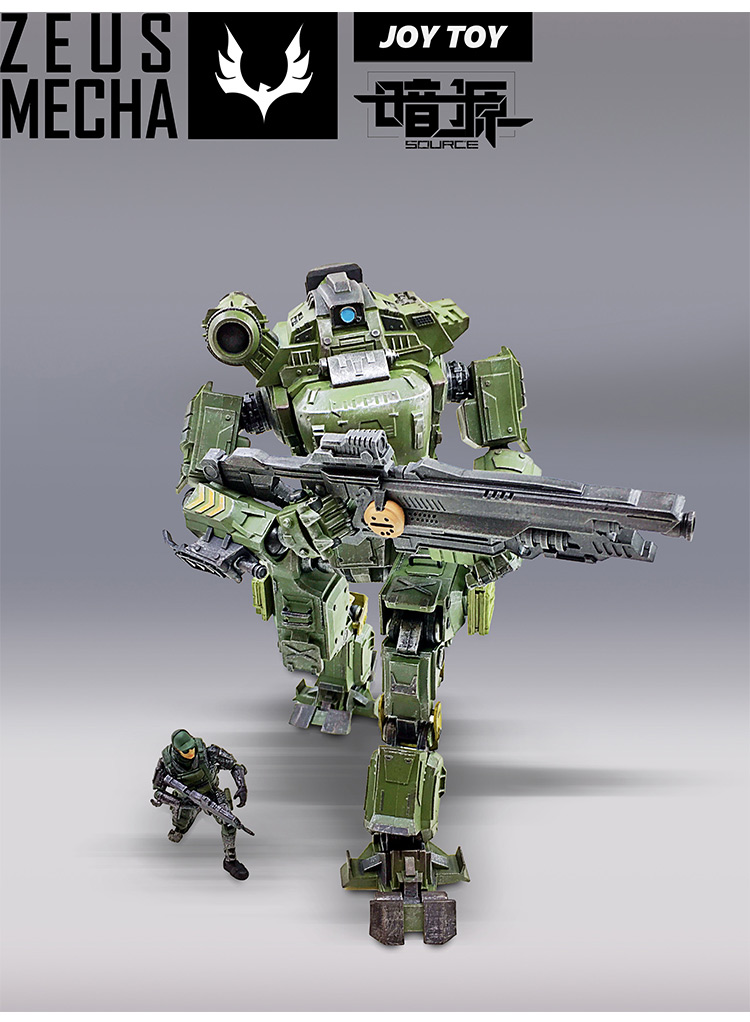 FREE SHIPPING JOY TOY 1:27 ACTION GREEN ZEUS MECHA / ROBOT 'JOINTS MOVABLE COLLECTION HOILDAY GIFT RE024