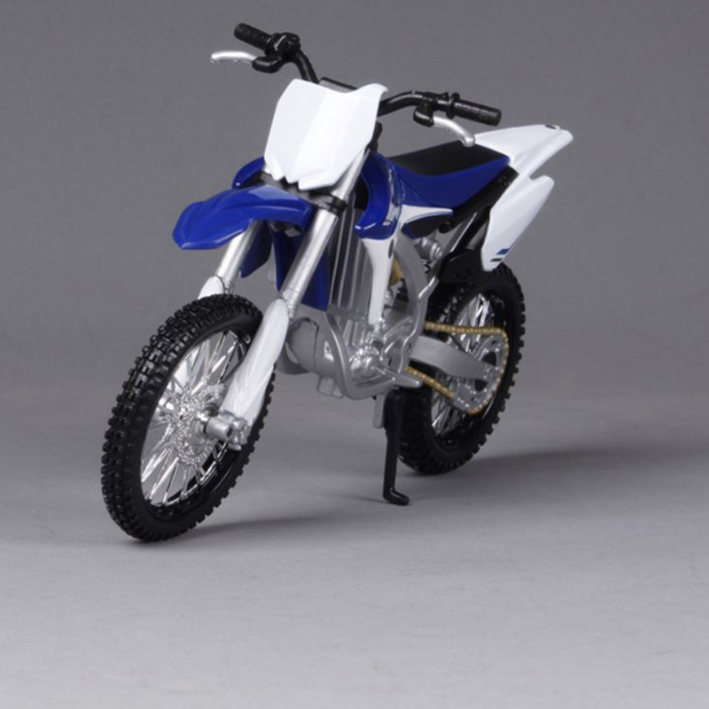 1 12 original mini yamaha 450f motorcycle models diecast 17 6 9cm metal diecast models blue with. Black Bedroom Furniture Sets. Home Design Ideas