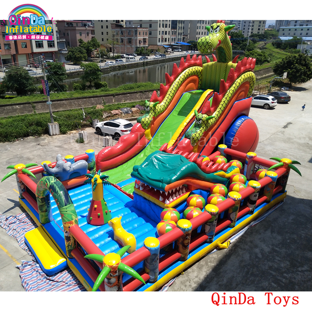 US $8730 0 |17*11*8m commercial used bounce house for sale craigslist,free  blower inflatable giant fun city -in Inflatable Bouncers from Toys &