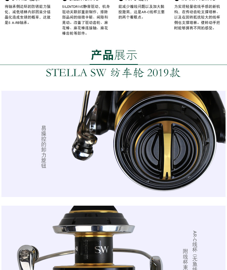 Super Sale] Original 2019 Shimano Stella SW 8000PG 10000PG