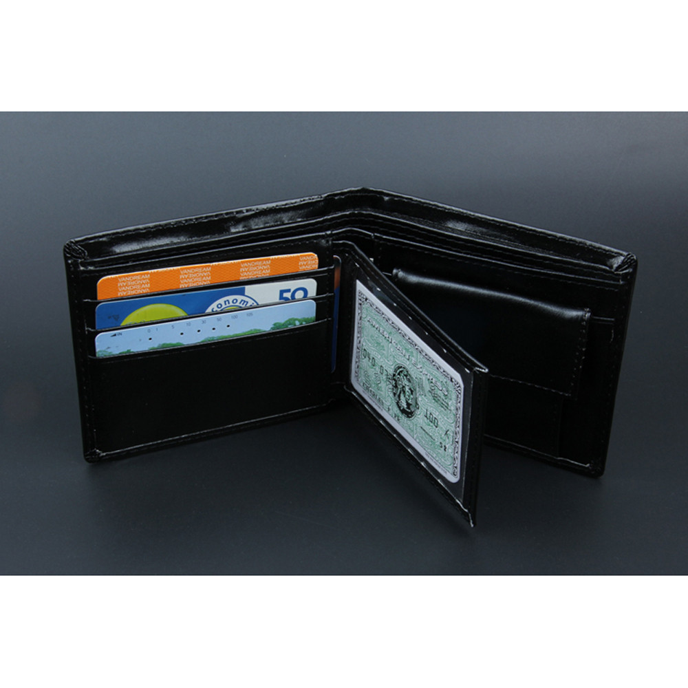Men Wallets Card-Holders Coin-Pocket Purse-Function Black Vintage Male Fashion with Soft title=