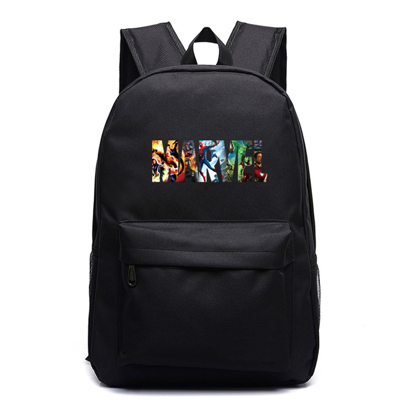 New Hot Superhero Marvel Letter The Avengers Boy Girl School Bag Women Bagpack Teenagers Schoolbags Canvas Men Student Backpacks image