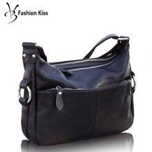 VM Fsahion kiss Genuine Leather Women Casual Crossbody Hobos Soft Shoulder Bag Lady Hangbags Bolso Mujer Luxury Designer brand