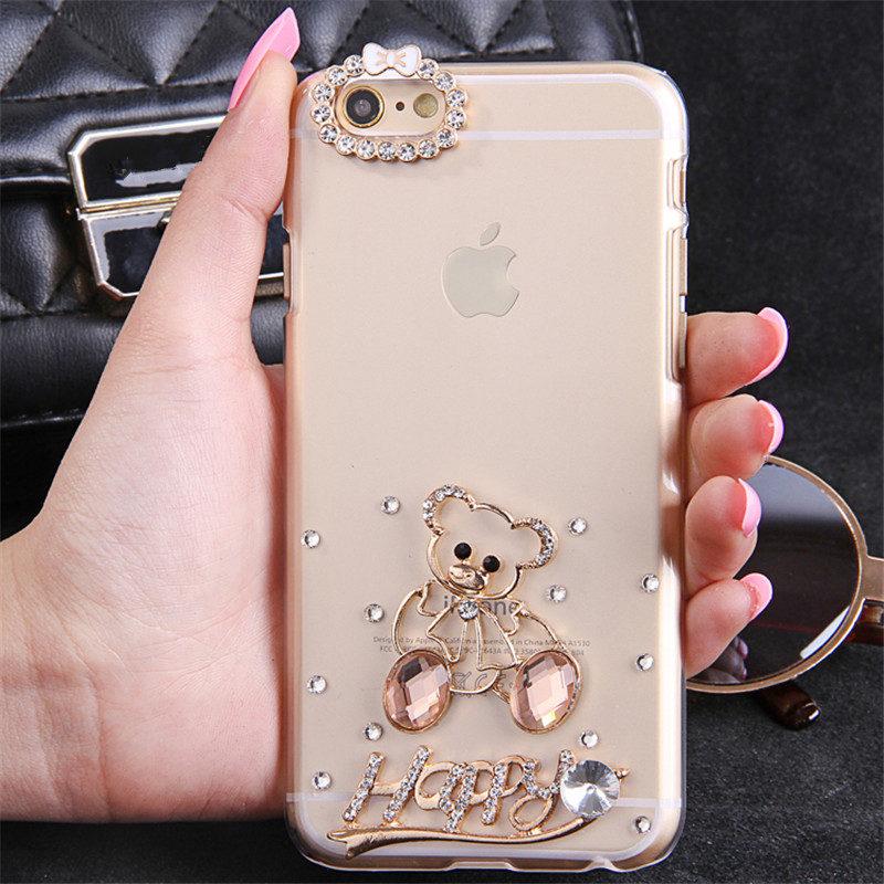 For LG K10 (2018) Cover Case Luxury Glitter Cute Diamond Crystal Rhinestone Phone Case Soft Bling Back cover - intl