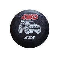 Dongzhen Авто Стайлинг 4WD запасное колесо шины покрытия протектор шины из искусственной кожи Универсальный 4x4 подходит для ford VW BMW Kia Honda