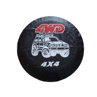 Dongzhen Auto Car Styling 4WD Spare Wheel Tire Cover Tyre Protector PU Leather Universal 4X4 Fit