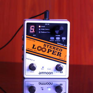 Image 4 - Good Quality Guitar Parts ammoon STEREO LOOPER Loop Record Guitar Effect Pedal 10 Independent Loops  Max. 10min Recording Time